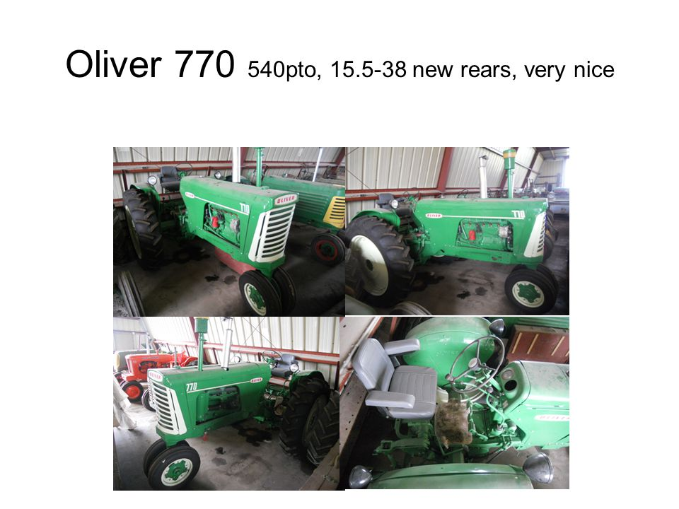 Oliver 770 540pto, 15.5-38 new rears, very nice