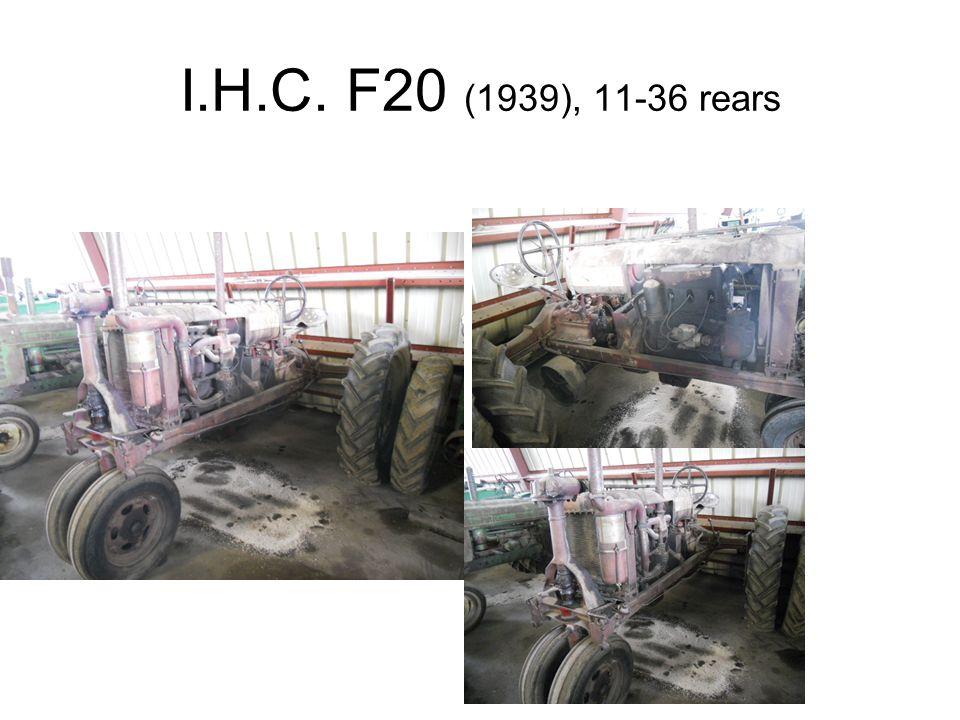 I.H.C. F20 (1939), 11-36 rears