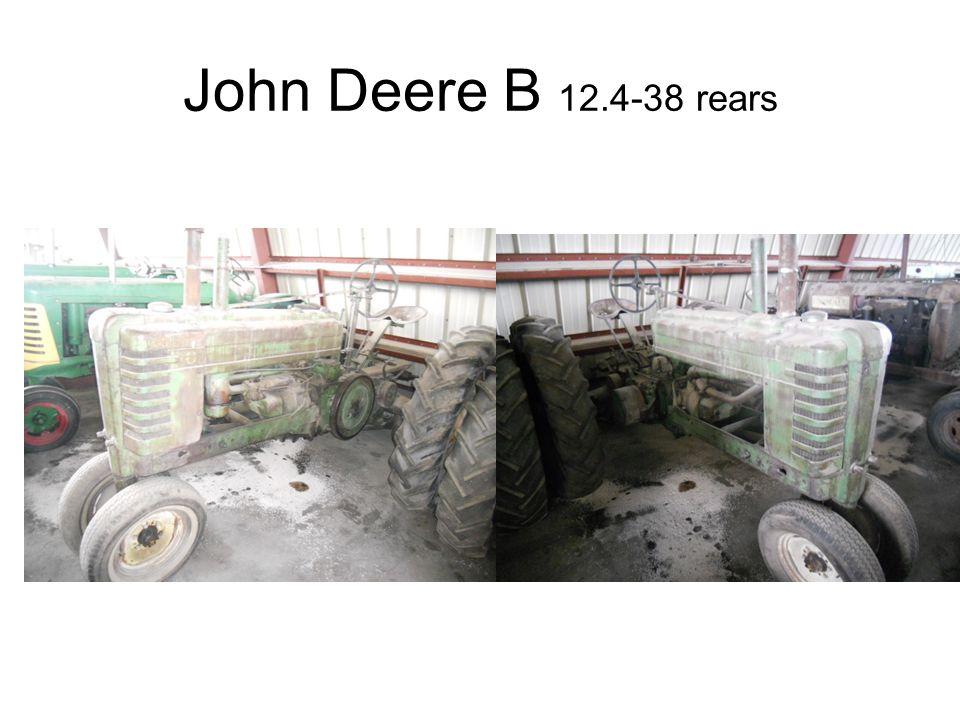 John Deere B 12.4-38 rears