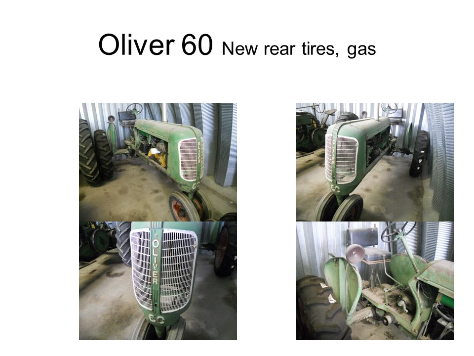 Oliver 880 15.5-38 rears, gas, 540pto