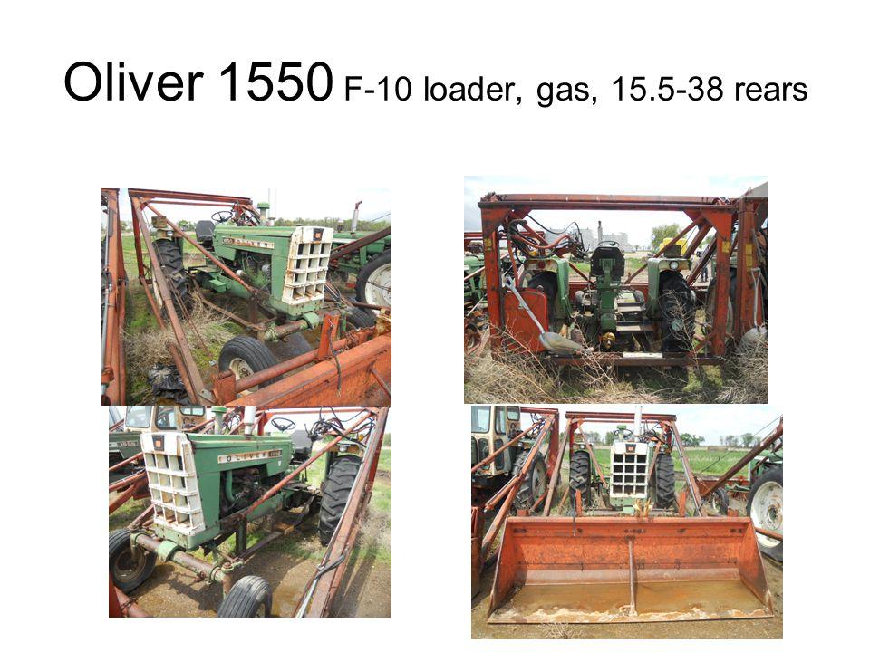 Oliver 1550 F-10 loader, gas, 15.5-38 rears