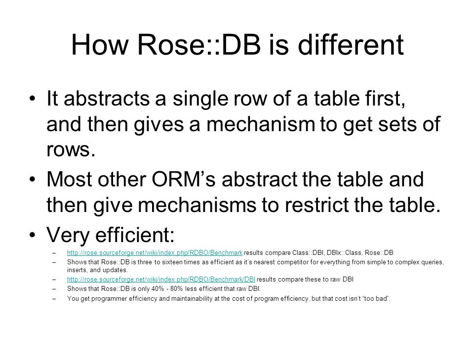 Tutorial: Setting Up a Database Create a Mongers/RDB.pm to describe the database connection.