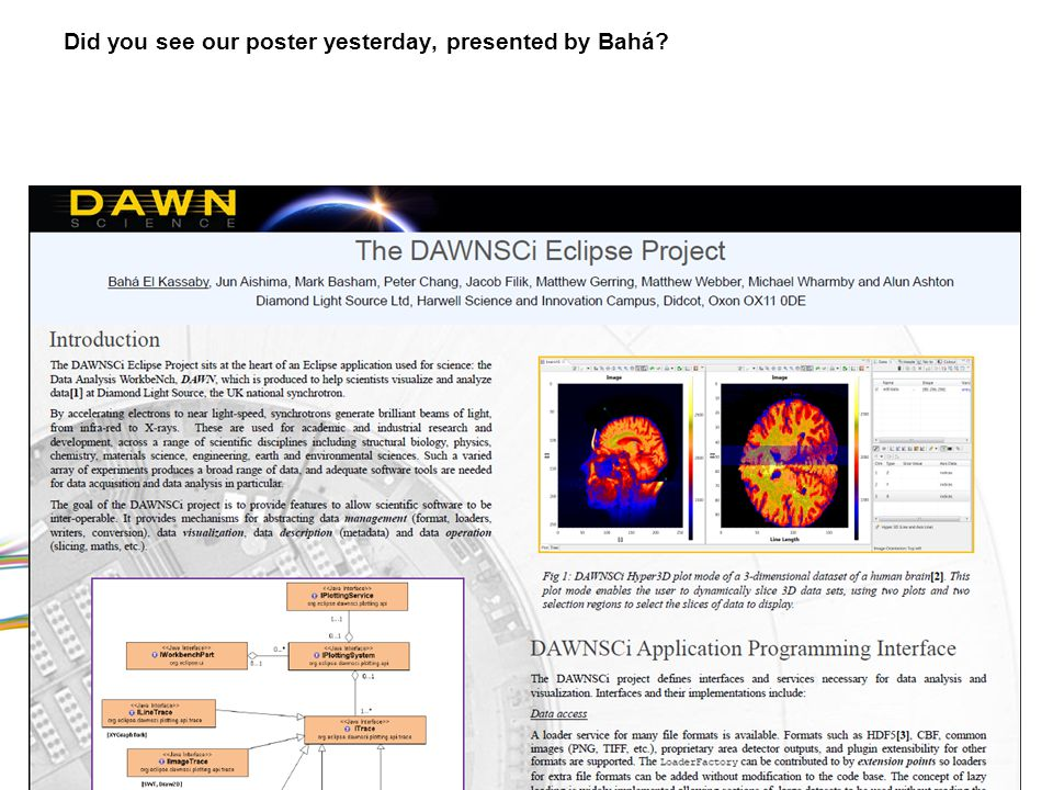 Did you see our poster yesterday, presented by Bahá.