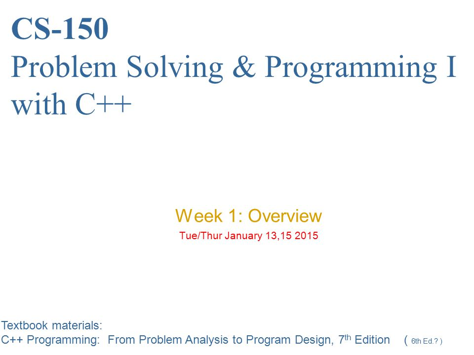 Analyze the Problem Thoroughly understand the problem Understand problem requirements −Does program require user interaction.