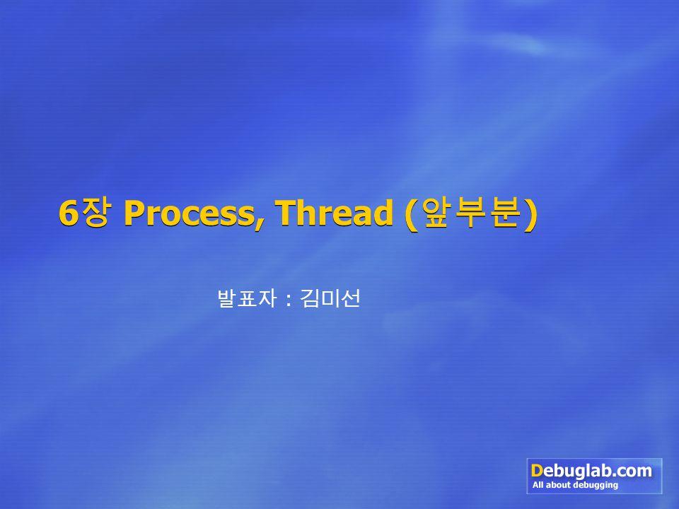 6 장 Process, Thread ( 앞부분 ) 발표자 : 김미선