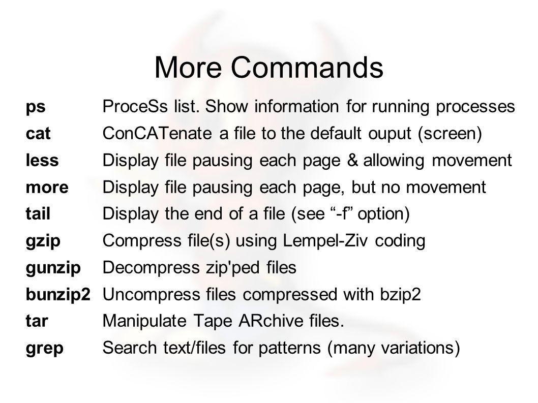 More Commands psProceSs list.