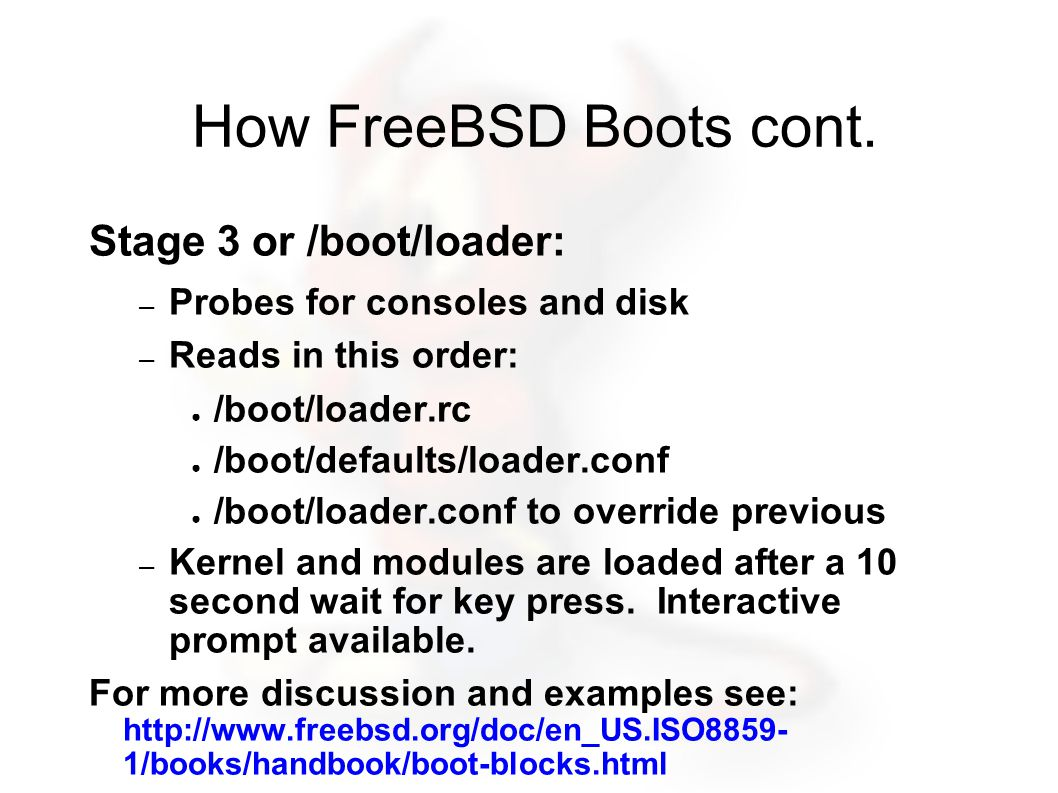 Installing with CVS CVS: Concurrent Versions System Somewhat detailed FreeBSD Handbook entry: http://www.freebsd.org/doc/en_US.ISO8859- 1/books/handbook/cvsup.html ● Typical use for CVS and FreeBSD (other than software projects) is to keep your Ports collection up-to-date.