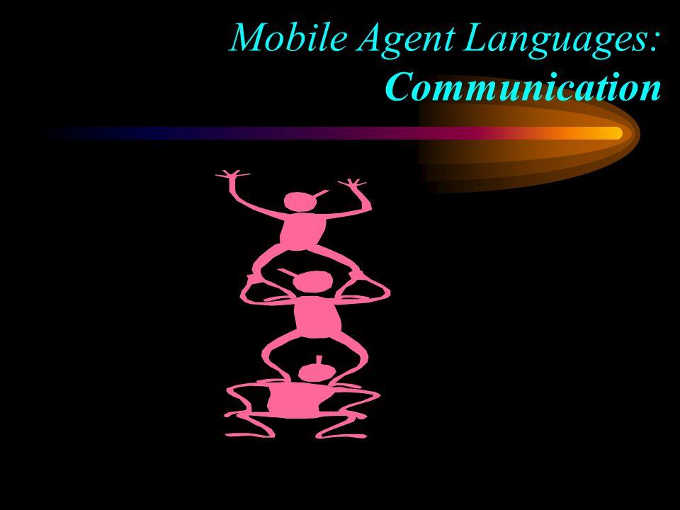 Mobile Agent Languages: Communication
