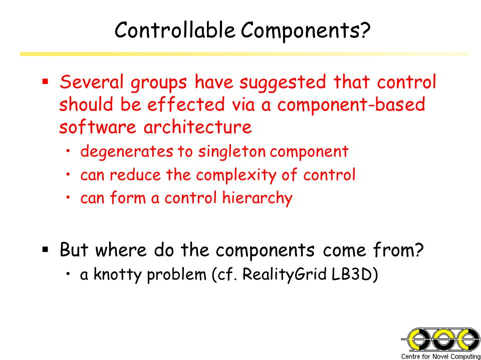 Controllable Components.
