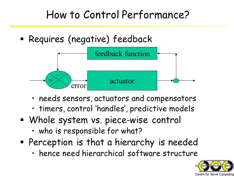 How to Control Performance.