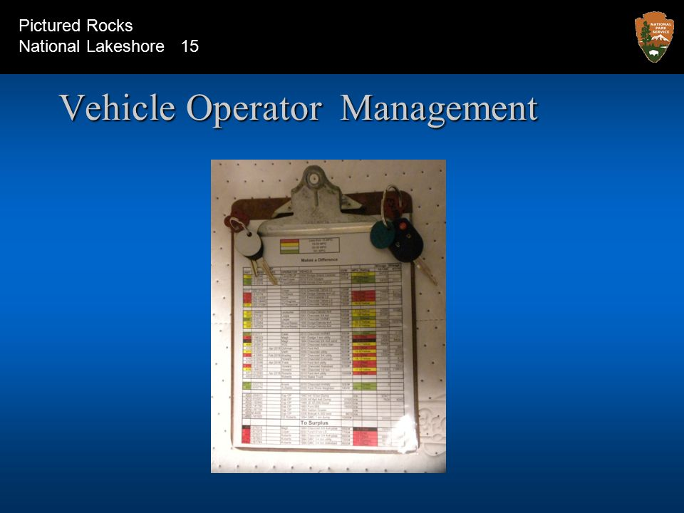 Vehicle Operator Management Pictured Rocks National Lakeshore 15
