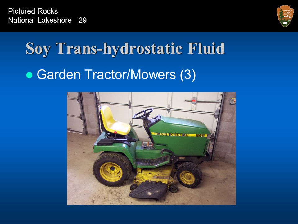 Soy Trans-hydrostatic Fluid Garden Tractor/Mowers (3) Pictured Rocks National Lakeshore 29