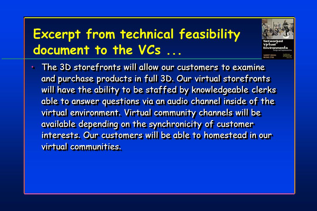 Excerpt from technical feasibility document to the VCs...