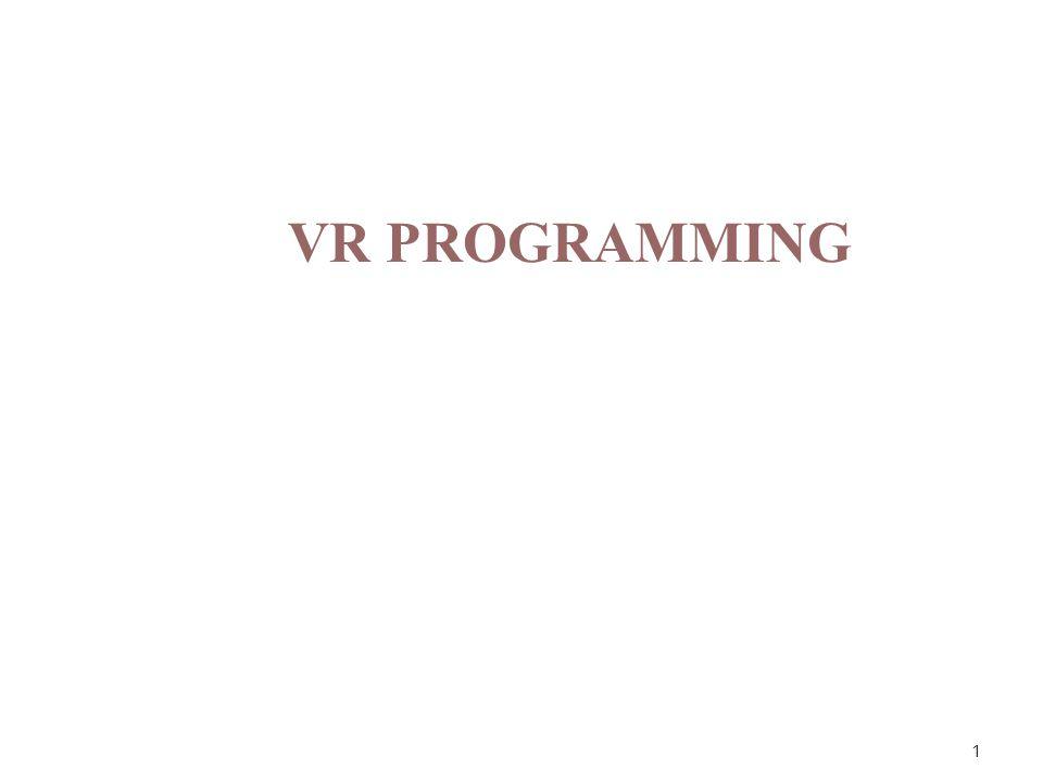 1 VR PROGRAMMING