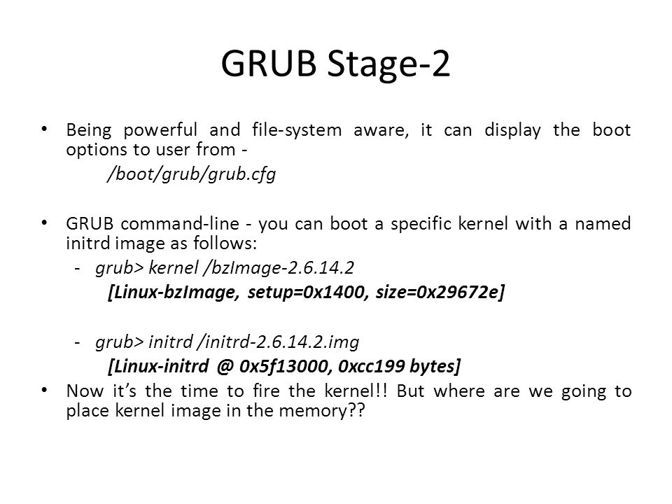 Sample GRUB Conf file