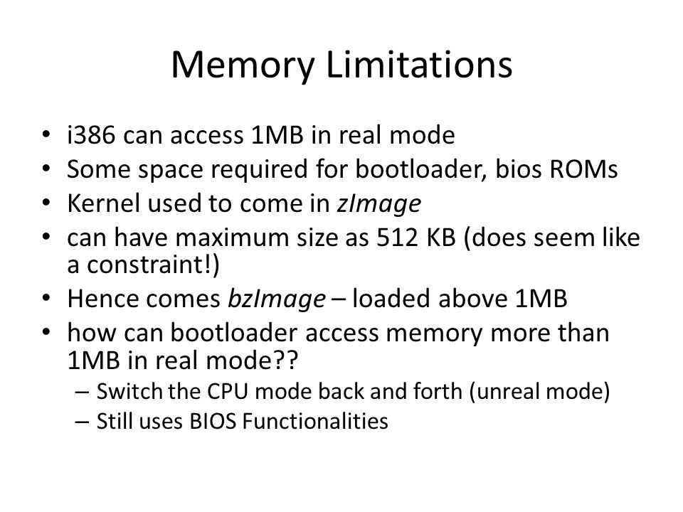 Memory Layout for the first 4GB in x86
