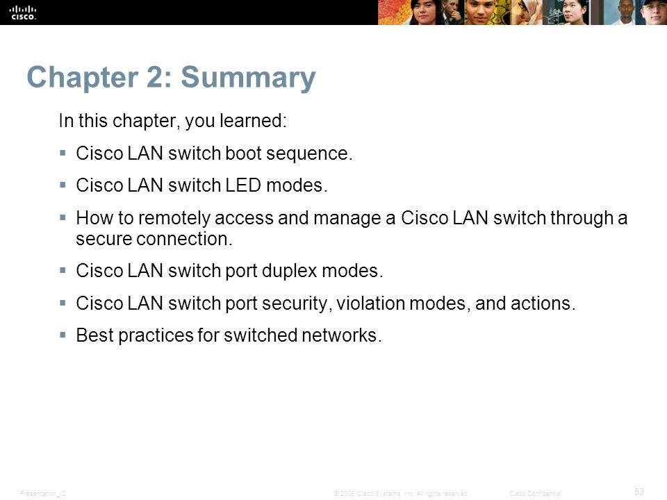 Presentation_ID 53 © 2008 Cisco Systems, Inc.