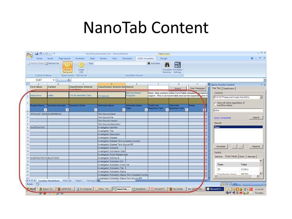 NanoTab Content