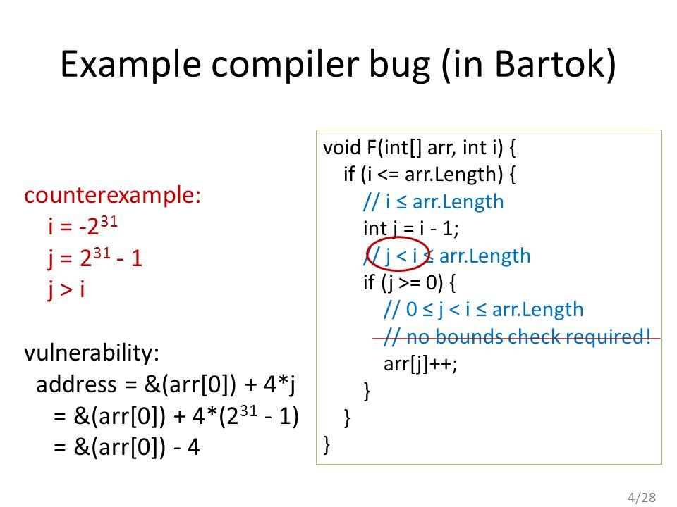 5/28 Answer #2: Typed Assembly Language.(Morrisett et al, POPL 1998) source code (e.g.