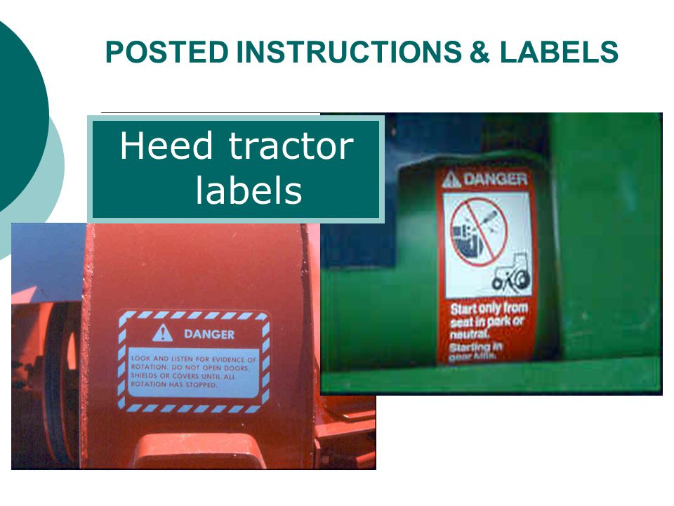 RECAP Use the right tractor and implement for the job Conduct pre-operation checks Maintain tractor safety features (esp.