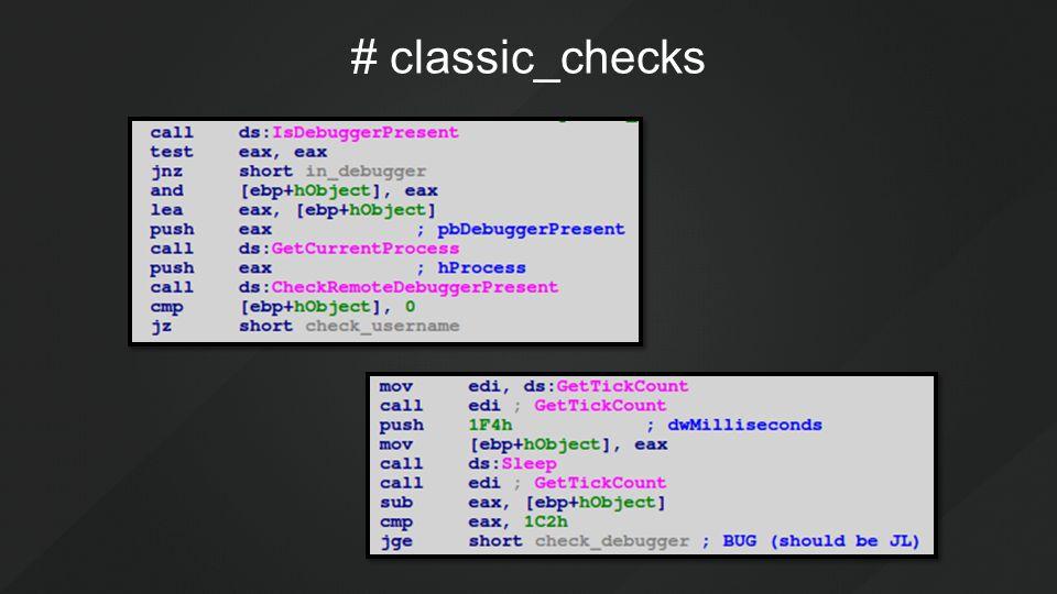 # classic_checks