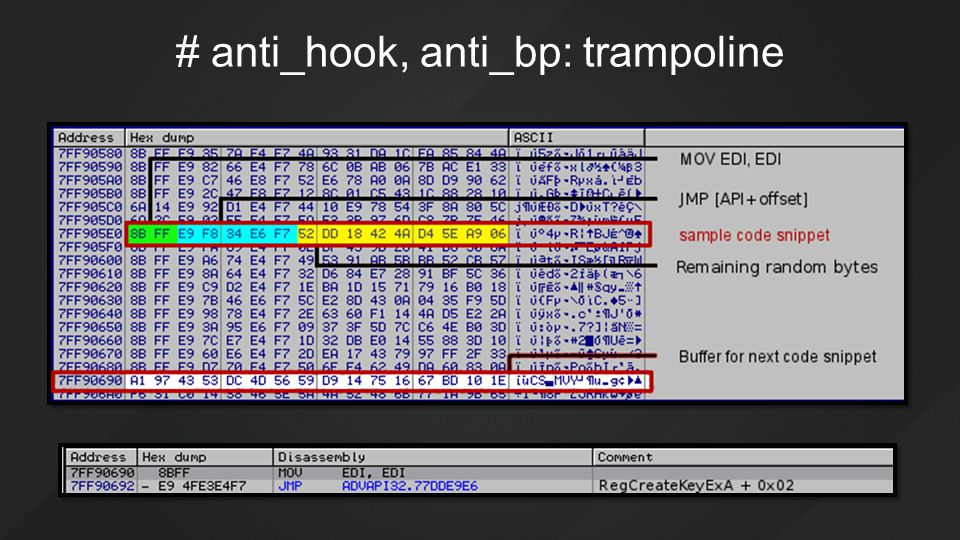 # anti_hook, anti_bp: trampoline
