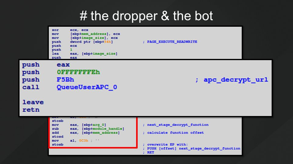 # the dropper & the bot