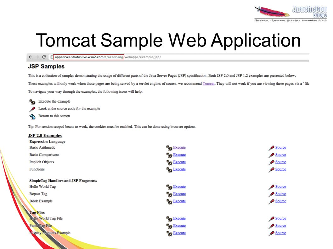 Tomcat Sample Web Application