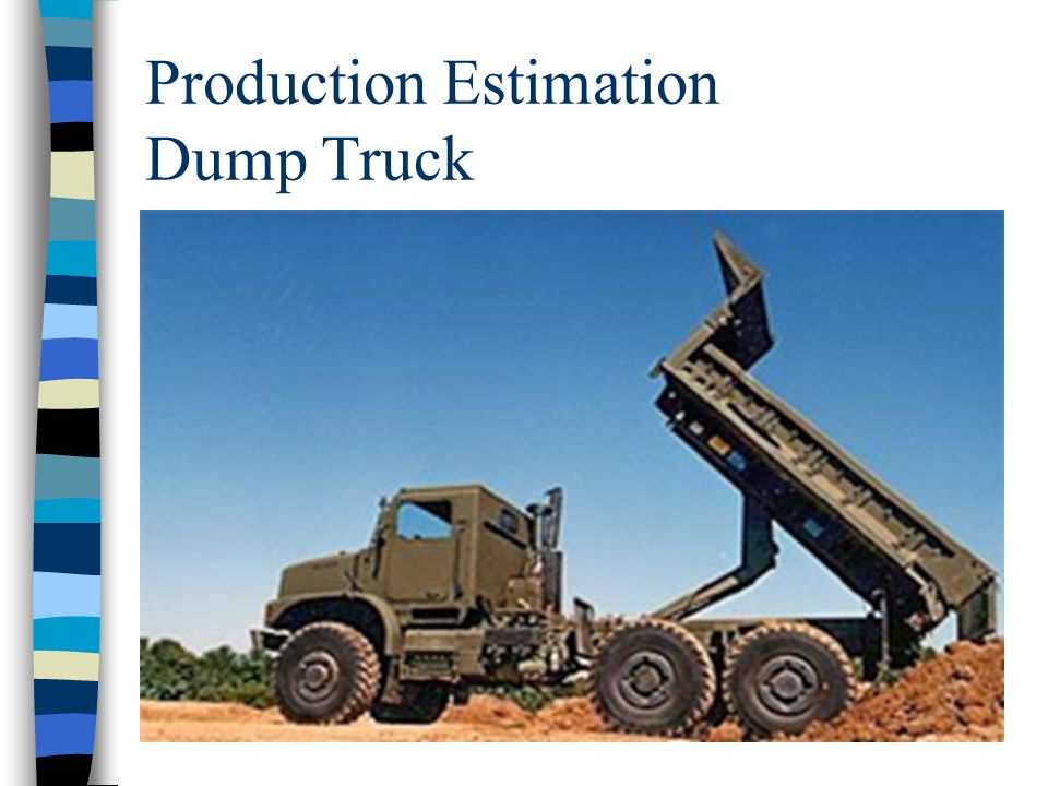 Production Estimation n BREAK…..