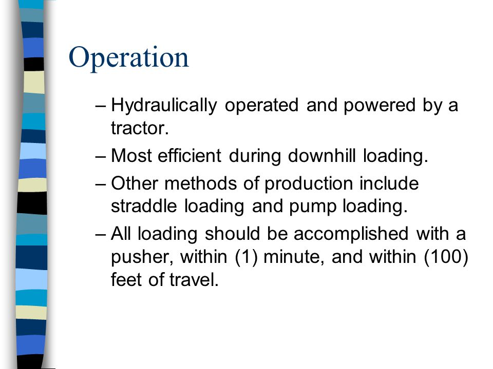 Characteristics –Wheeled vehicle characterized by a tractor and a scraper. –Prime movers in cut and fill operations and in bringing elevations to roug