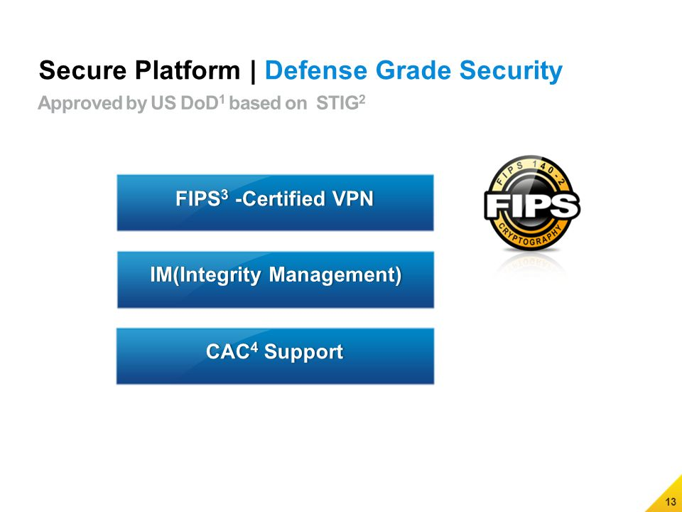 13 Secure Platform | Defense Grade Security