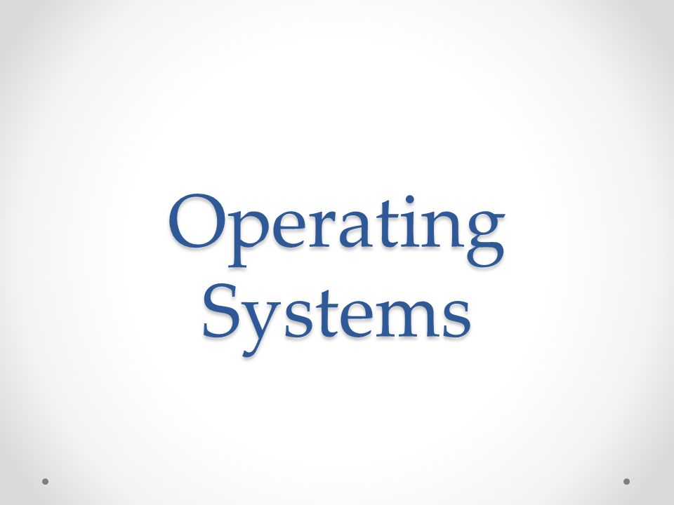 Operating System An interface between Applications and hardware It manages computer hardware resources and provides services for computer programs Application programs require an operating system to function.