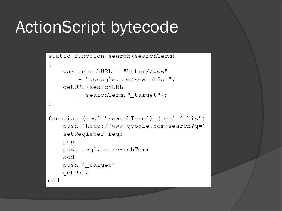 ActionScript bytecode