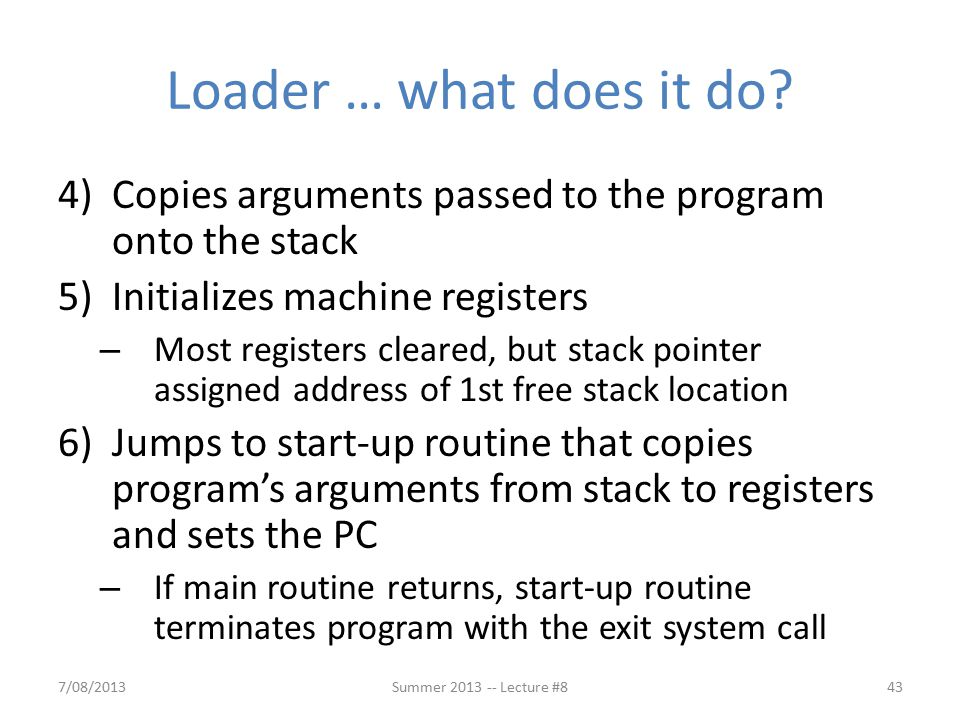 Loader … what does it do.