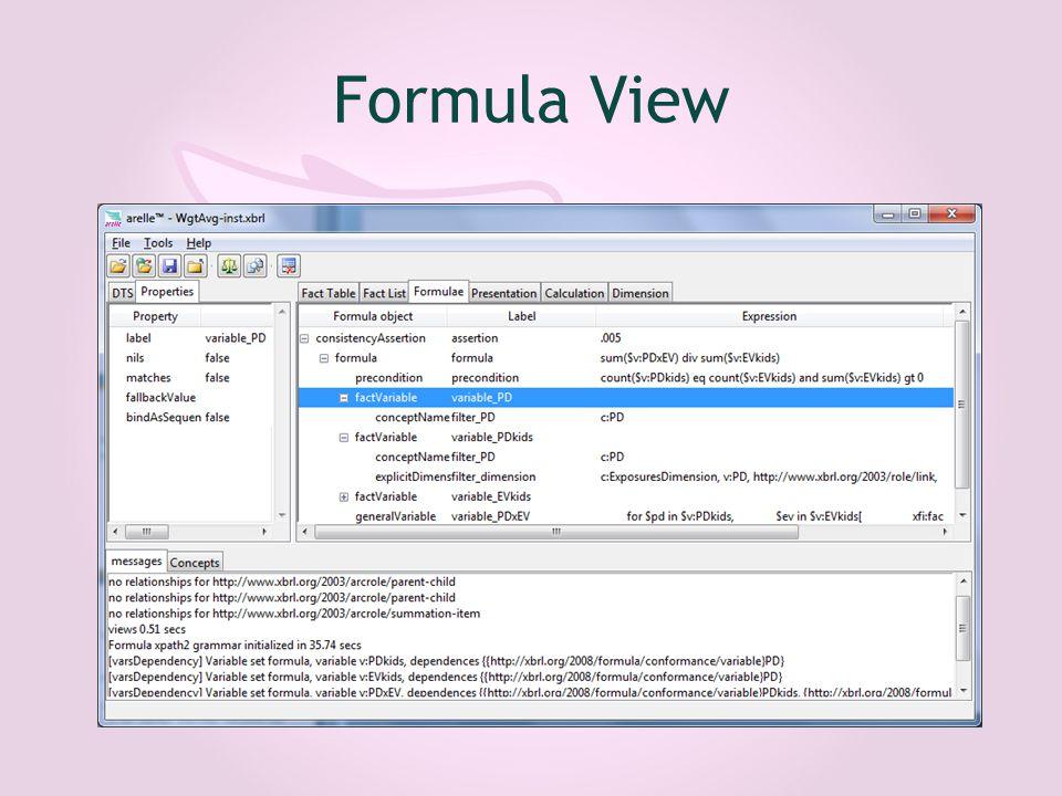 Formula View