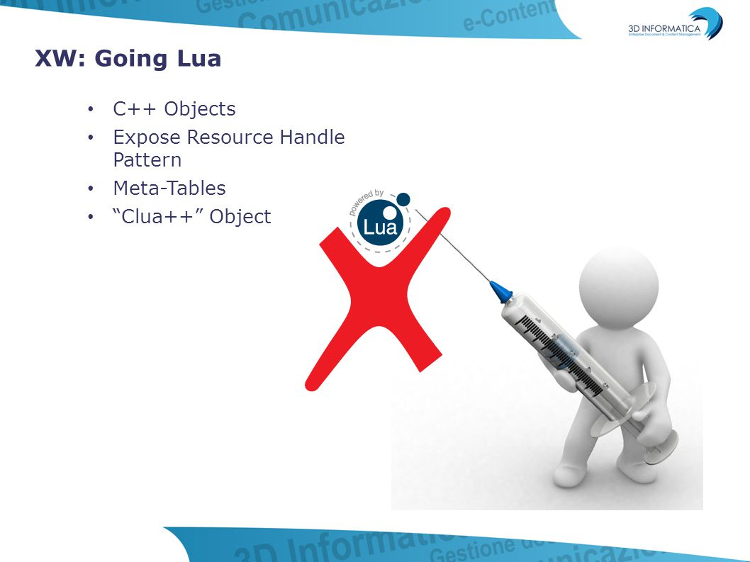 "XW: Going Lua C++ Objects Expose Resource Handle Pattern Meta-Tables ""Clua++"" Object"