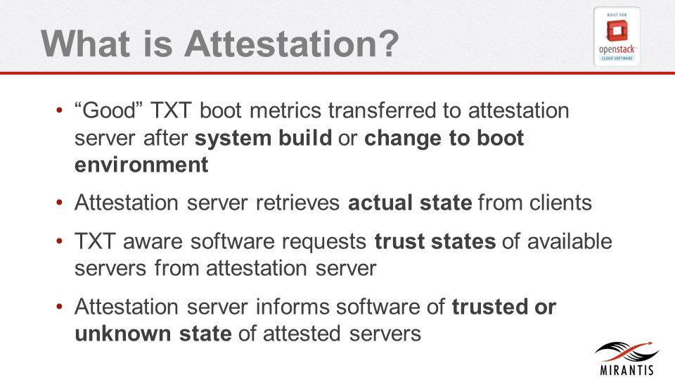 What is Attestation.