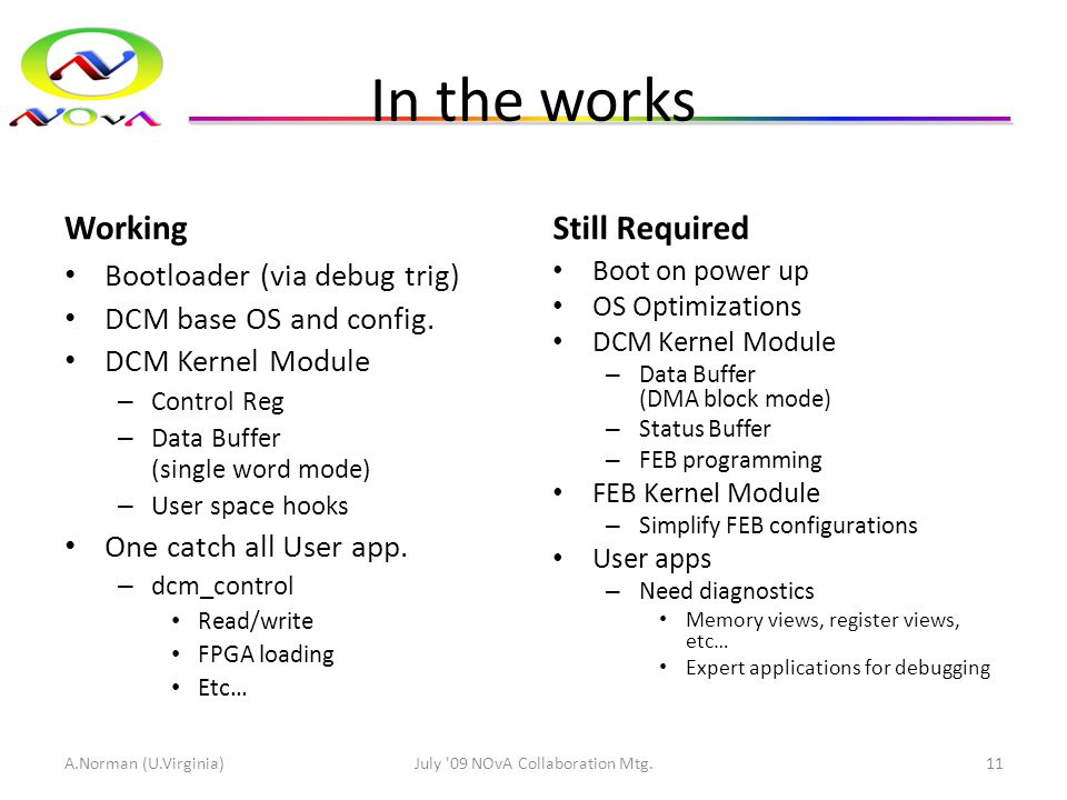In the works Working Bootloader (via debug trig) DCM base OS and config.