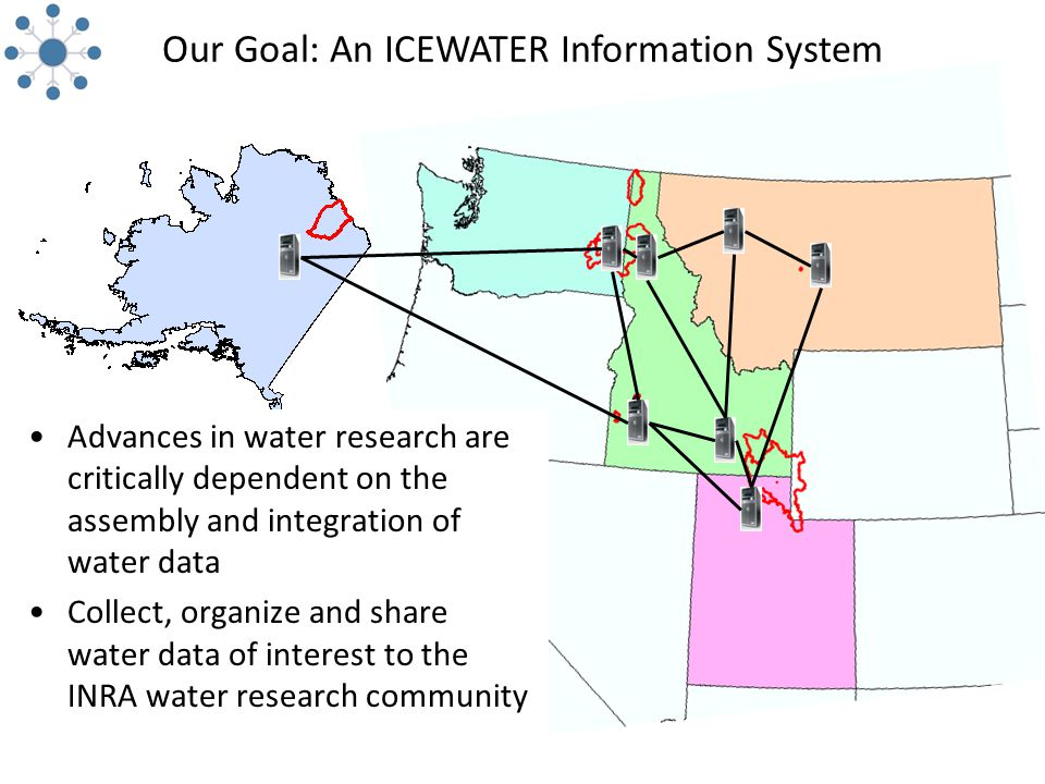 Our Goal: An ICEWATER Information System Advances in water research are critically dependent on the assembly and integration of water data Collect, organize and share water data of interest to the INRA water research community