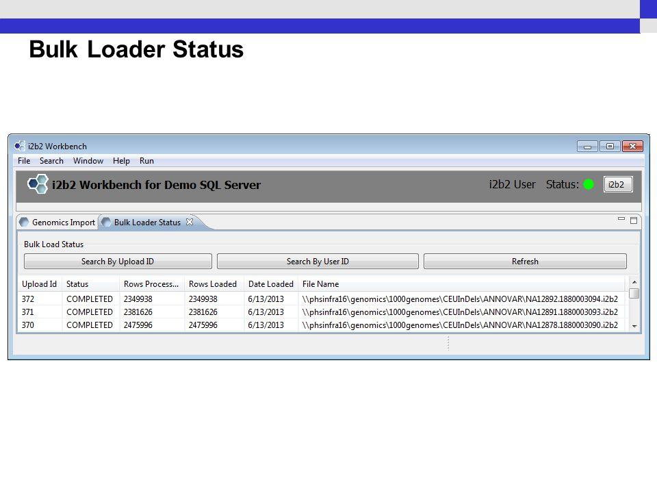 Bulk Loader Status