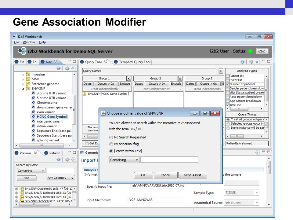 Gene Association Modifier