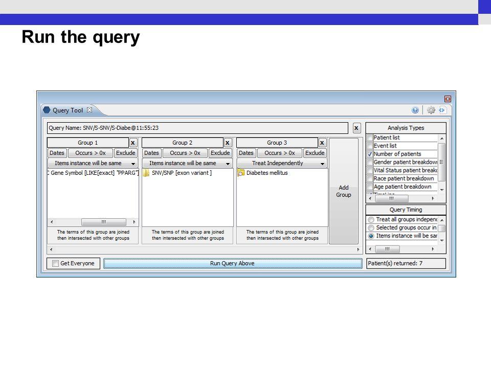 Run the query