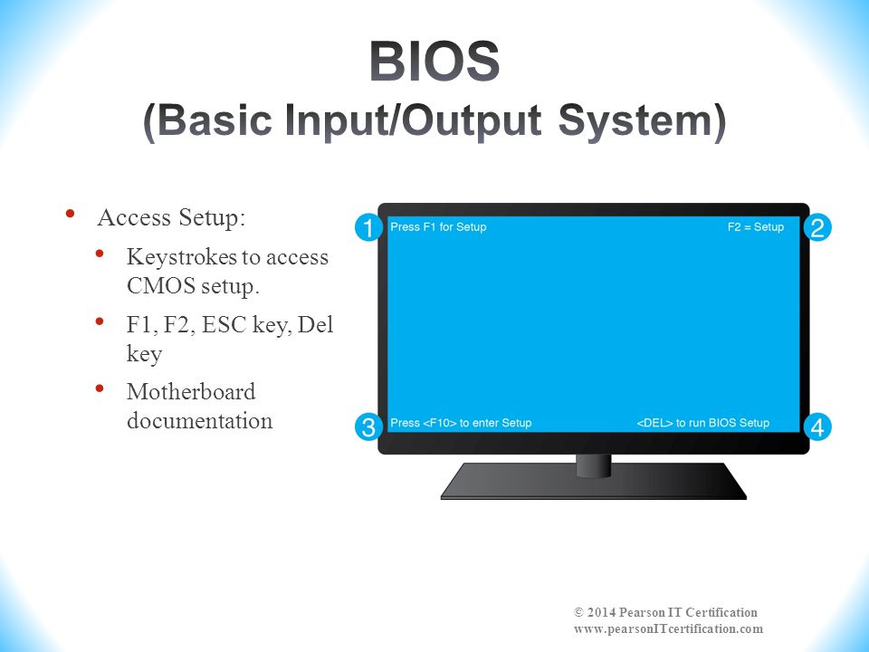 Flash BIOS ( flash the BIOS ; most common today ): allows changing/upgrading the BIOS without installing a new chip or chips.