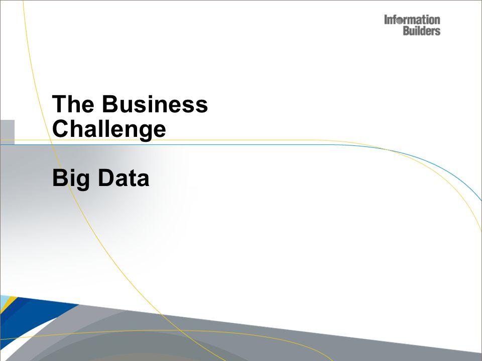 Copyright 2007, Information Builders. Slide 3 The Business Challenge Big Data