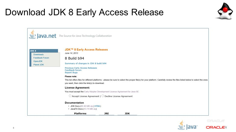6 6 Download JDK 8 Early Access Release