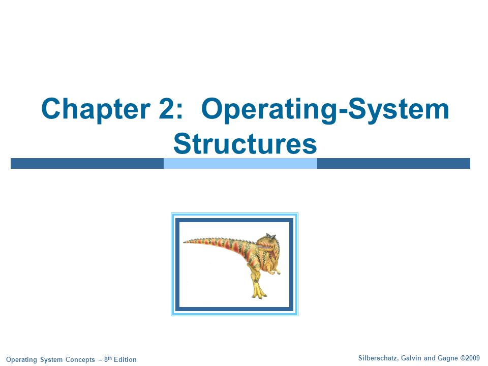 2.12 Silberschatz, Galvin and Gagne ©2009 Operating System Concepts – 8 th Edition System Calls Programming interface to the services provided by the OS Typically written in a high-level language (C or C++) Mostly accessed by programs via a high-level Application Program Interface (API) rather than direct system call use Three most common APIs are Win32 API for Windows, POSIX API for POSIX-based systems (including virtually all versions of UNIX, Linux, and Mac OS X), and Java API for the Java virtual machine (JVM) Why use APIs rather than system calls.