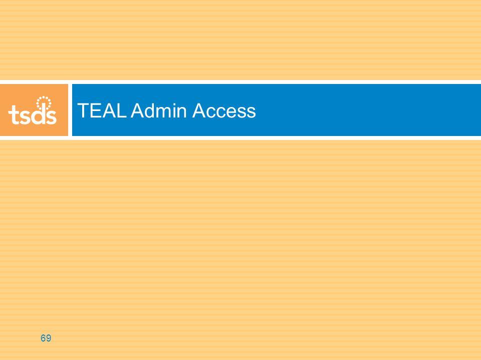TEAL Admin Access 69