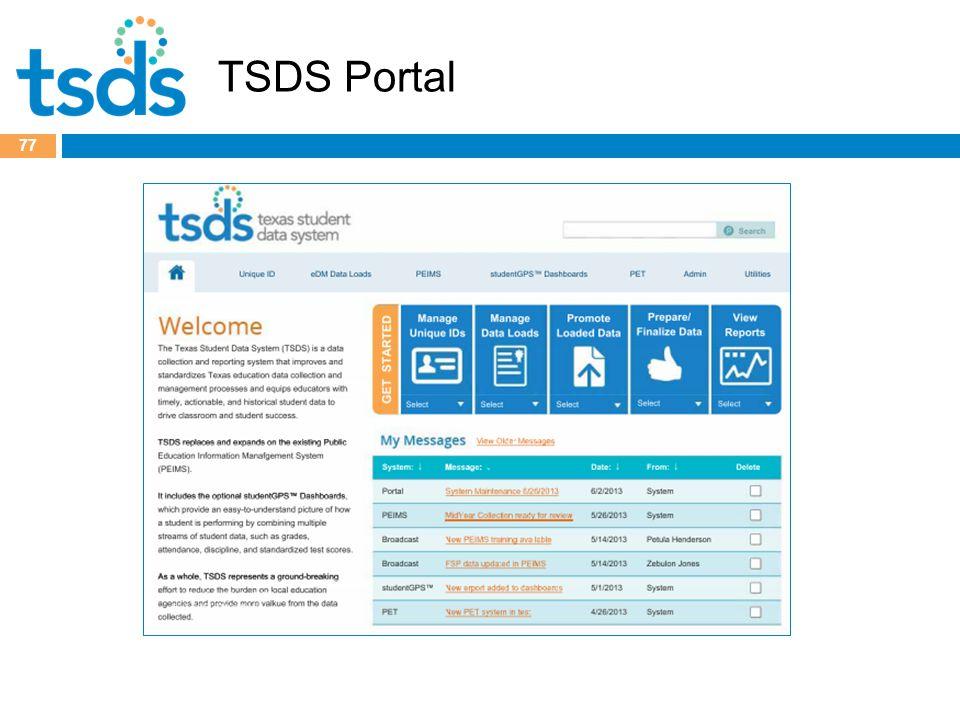 TSDS Portal 77