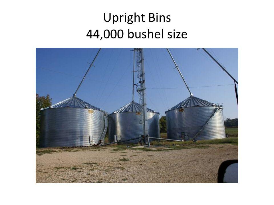 Upright Bins 44,000 bushel size