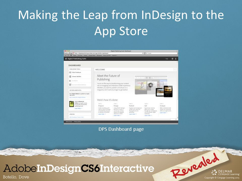 DPS Dashboard page Making the Leap from InDesign to the App Store